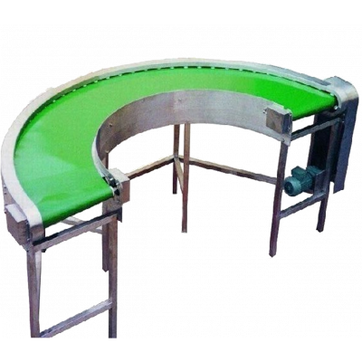 semi circle return powered conveyor belt