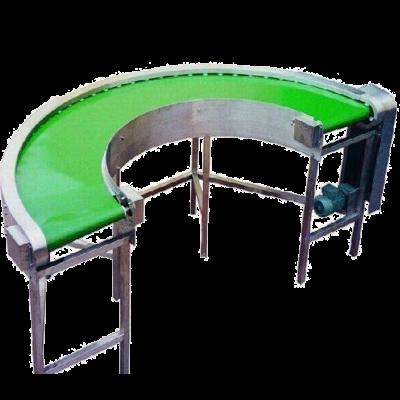 Semi circle return powered conveyor belt